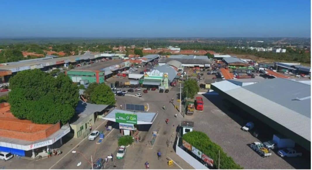 Foto aérea da Nova Ceasa, maior central de abastecimento de alimentos do Piauí