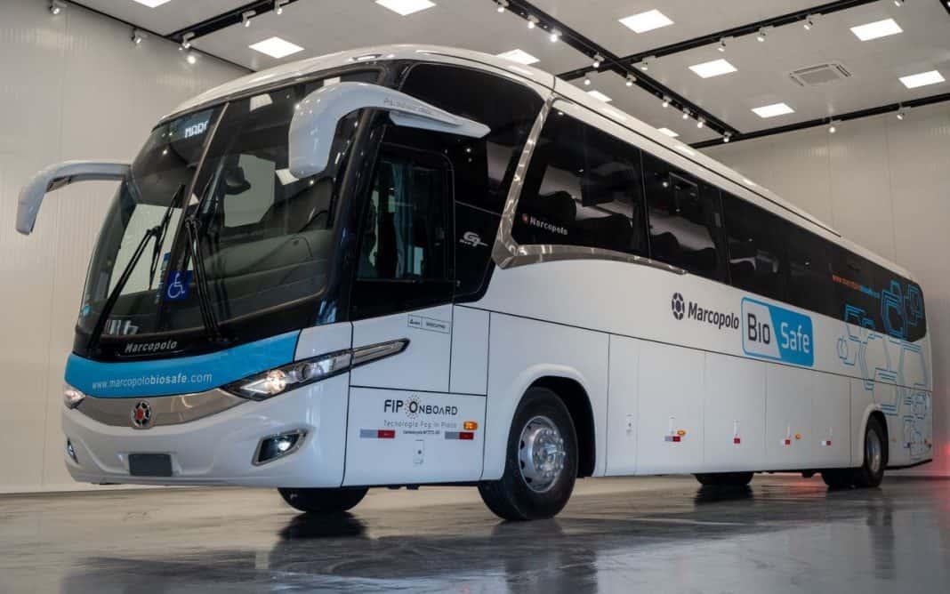 Fotografia de ônibus da Marcopolo