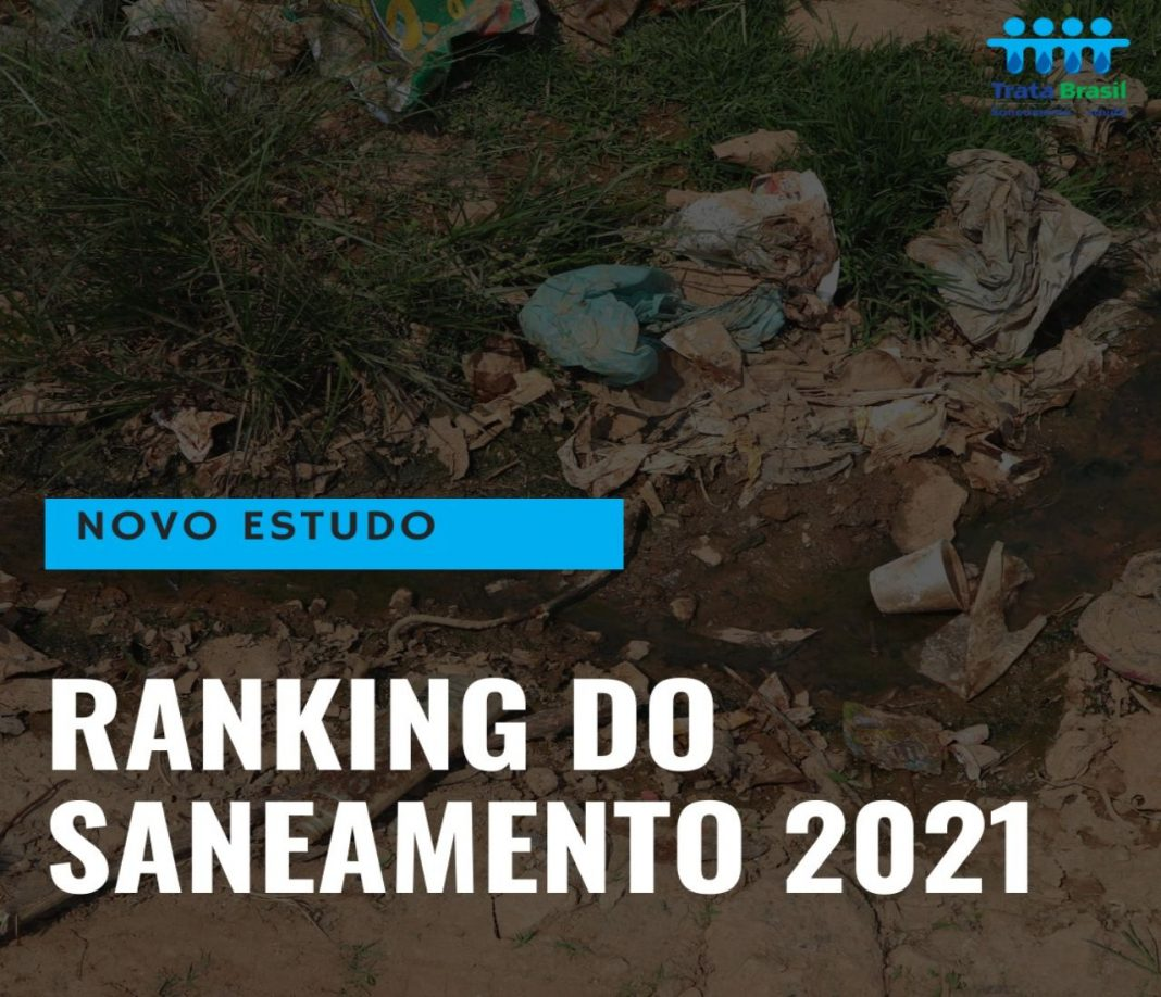 Fotografia sobre saneamento básico do lançamento do Ranking do Saneamento