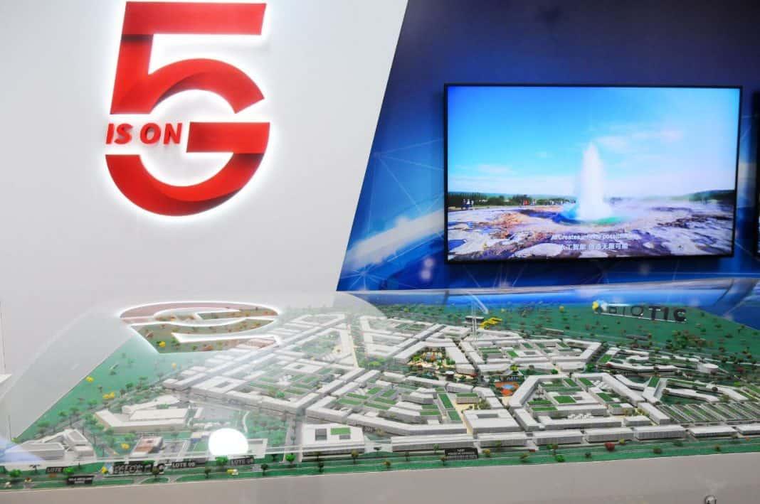 Fotografia de 5G em cidade inteligente
