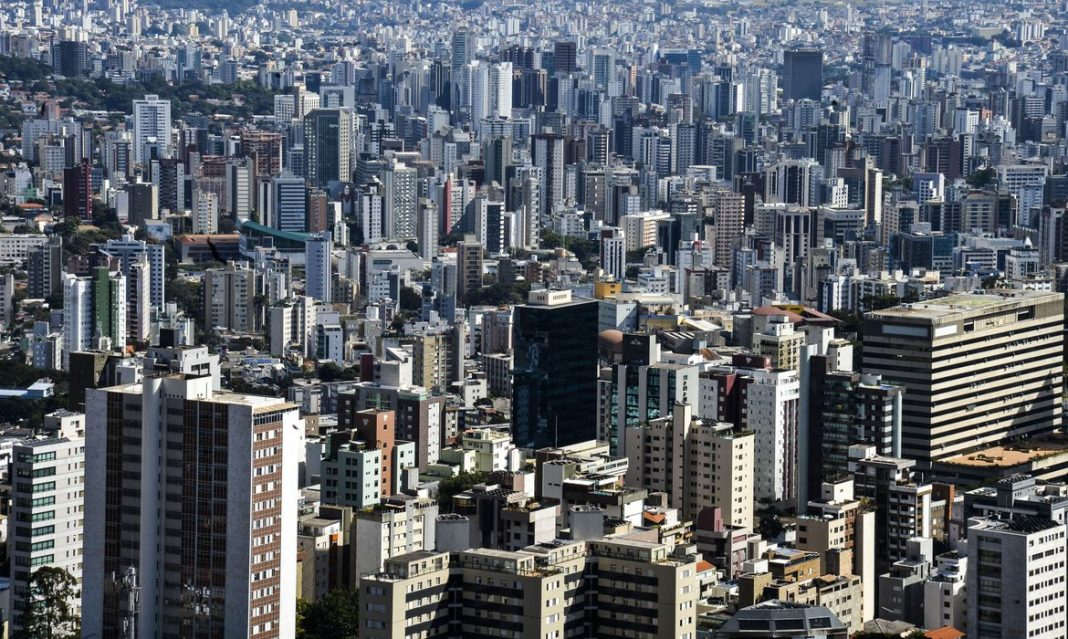 Fotografia área da cidade de Belo Horizonte