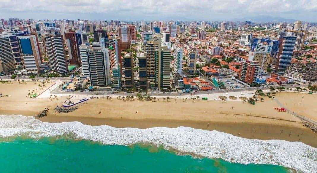 Fotografia aérea de Fortaleza uma das cidades inteligentes