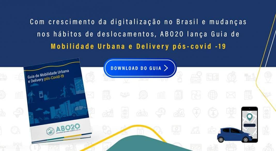 Reprodução cocm a capa do GUIA DE MOBILIDADE URBANA E DELIVERY PÓS-COVID-19