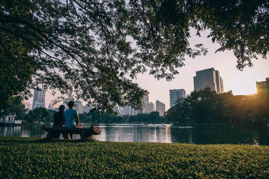 Fotografia de cidade com esenvolvimento Urbano Sustentável