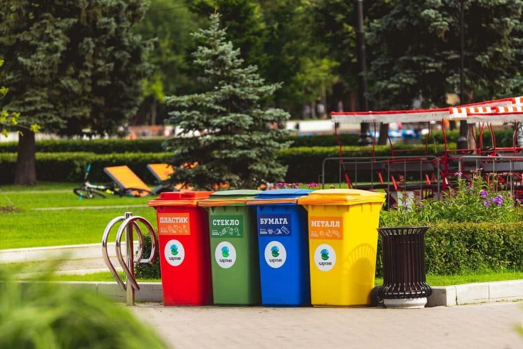 Fotografia de coleta seletiva de lixo ou resíduos sólidos