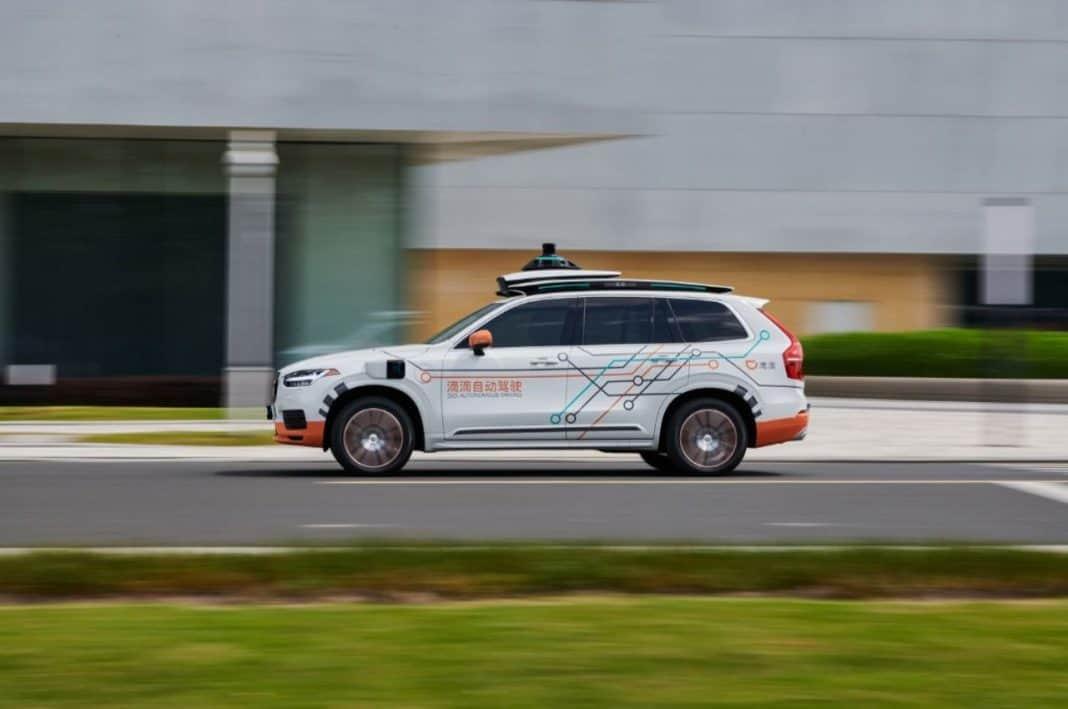 Fotografia de carro autônomo da Volvo Cars e DiDi