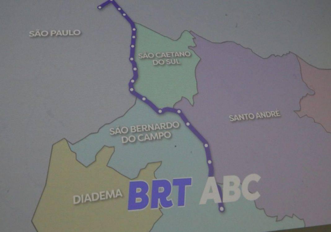 Fotografia do projeto do BRT-ABC