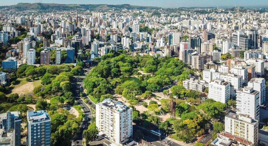 Fotografica aérea de Porto Alegre
